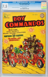 Boy Commandos #7 (DC, 1944) CGC VF- 7.5 Cream to off-white pages