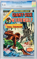Bronze Age (1970-1979):Horror, Giant-Size Werewolf By Night #5 (Marvel, 1975) CGC NM 9.4 Off-whiteto white pages....