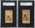 Boxing Cards:General, 1887 N174 Old Judge Prizefighters Jack Dempsey SGC-Graded Pair (2)....