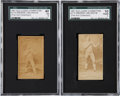 Boxing Cards:General, 1887 N174 Old Judge Prizefighters George LaBlanche SGC-Graded Pair (2)....