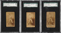 Boxing Cards:General, 1887 N174 Old Judge Prizefighters J.P. Clow SGC-Graded Trio (3)....