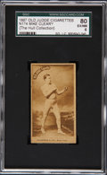 Boxing Cards:General, 1887 N174 Old Judge Mike Cleary, Curved Logo SGC 80 EX/NM 6. ...