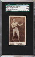 Boxing Cards:General, 1895 N310 Mayo's Cut Plug Chas. Mitchell-Name At Top SGC 50 VG/EX4....