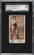 Boxing Cards:General, 1895 N310 Mayo's Cut Plug Young Griffo-Name At Top SGC 50 VG/EX4....