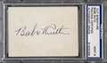 Autographs:Others, Circa 1940 Babe Ruth Signed Card, PSA Mint 9....