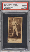 Boxing Cards:General, 1887 N174 Gypsy Queen Prizefighters Dominick McCaffrey PSA Good 2(MK)....