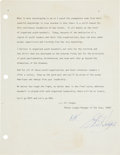 Autographs:Letters, Gil Hodges Signed Typed Letter. ...