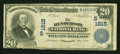 National Bank Notes:Kentucky, Henderson, KY - $20 1902 Plain Back Fr. 651 The Henderson NB Ch. #(S)1615. ...
