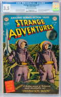Golden Age (1938-1955):Science Fiction, Strange Adventures #1 (DC, 1950) CGC VG- 3.5 Cream to off-whitepages....