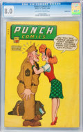 Golden Age (1938-1955):Crime, Punch Comics #17 Double Cover (Chesler, 1946) CGC VF 8.0 Off-white to white pages....