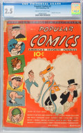 Platinum Age (1897-1937):Miscellaneous, Popular Comics #2 (Dell, 1936) CGC GD+ 2.5 Cream to off-white pages....