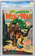 Golden Age (1938-1955):War, All-American Men of War #17 (DC, 1955) CGC FN 6.0 Cream tooff-white pages....