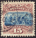 Stamps, 15c Brown & Blue, Type I (118),...