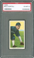 Baseball Cards:Singles (Pre-1930), 1909-11 T206 Billy Purtell PSA EX-MT 6....