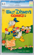 Golden Age (1938-1955):Cartoon Character, Walt Disney's Comics and Stories #132 (Dell, 1951) CGC VF+ 8.5Off-white pages....