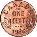 Canada, Canada: George V Cent 1936 Dot,...