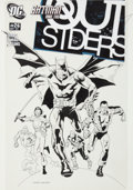 Original Comic Art:Covers, Kevin Nowlan Outsiders #26 Cover Original Art (DC, 2005)....