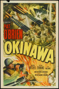 "Movie Posters:War, Okinawa (Columbia, 1952). One Sheet (27"" X 41""). War.. ..."