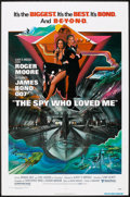 "Movie Posters:James Bond, The Spy Who Loved Me (United Artists, 1977). One Sheet (27"" X 41"") and Program (8.75"" X 12""). James Bond.. ... (Total: 2 Items)"