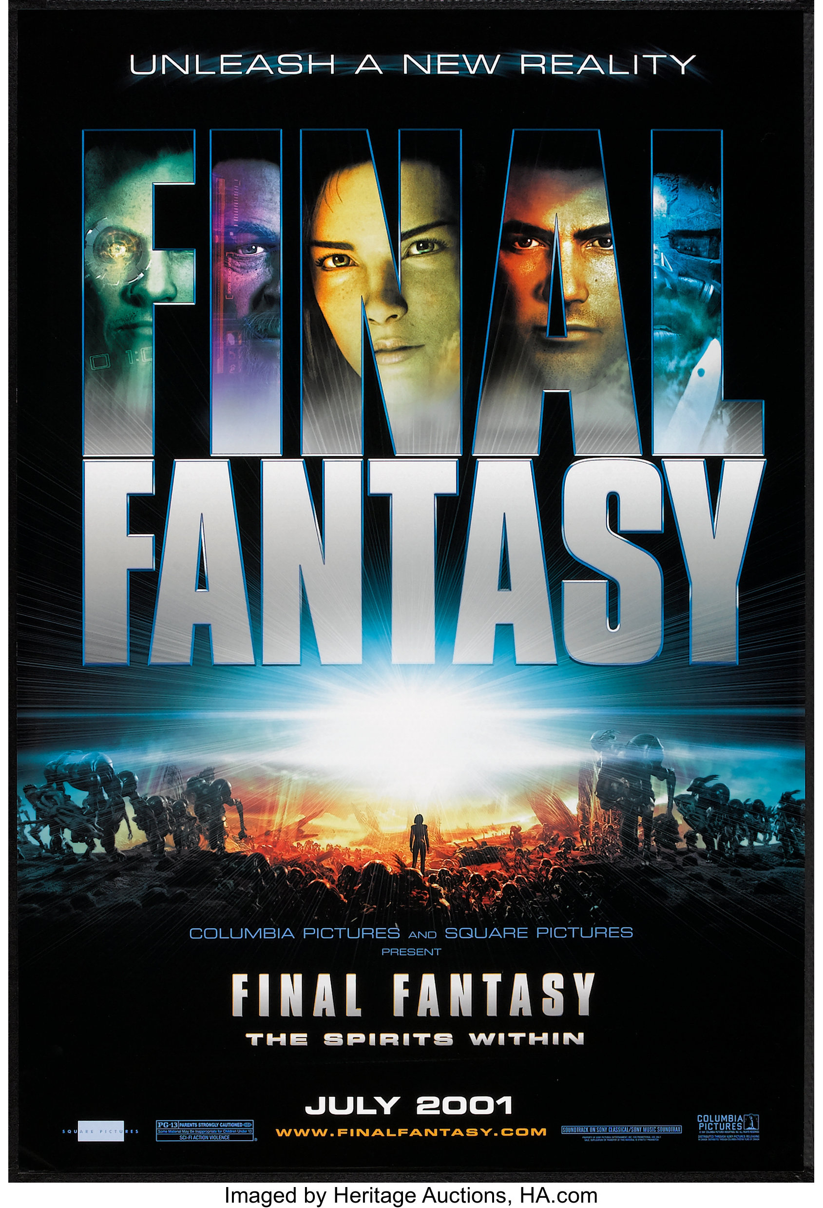Final Fantasy The Spirits Within Columbia 2001 One Sheet 27