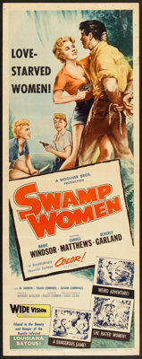 """Swamp Women (Woolner Brothers, 1956). Insert (14"""" X 36""""). Crime"""