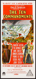 "Movie Posters:Historical Drama, The Ten Commandments (Paramount, 1956). Australian Daybill (13"" X 30""). Historical Drama.. ..."