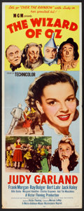 "Movie Posters:Fantasy, The Wizard of Oz (MGM, R-1955). Insert (14"" X 36""). Fantasy.. ..."