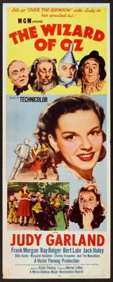 "The Wizard of Oz (MGM, R-1955). Insert (14"" X 36""). Fantasy"