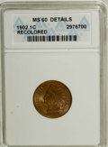 Indian Cents: , 1902 1C Brown--Recolored--ANACS. MS60 Details. NGC Census: (0/214). PCGS Population (1/57). Mintage: 87,376,720. Numismedia...