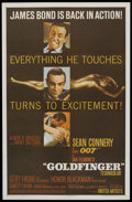 "Movie Posters:James Bond, Goldfinger (United Artists, 1964). One Sheet (27"" X 41""). JamesBond. Starring Sean Connery, Honor Blackman, Gert Frobe, Shi..."