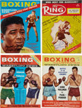 Boxing Collectibles:Autographs, Boxing Stars Signed Magazines and Letterhead Lot of 8. ...