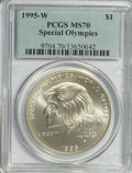 Modern Issues: , 1995-W $1 Special Olympics Silver Dollar MS70 PCGS. PCGS Population(35/0). NGC Census: (159/0). Numismedia Wsl. Price for...