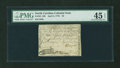 Colonial Notes:North Carolina, North Carolina April 2, 1776 $3 Alligator and Beaver PMG ChoiceExtremely Fine 45 EPQ....