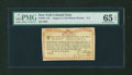 Colonial Notes:New York, New York August 2, 1775 (Water Works) 8s PMG Gem Uncirculated 65EPQ....