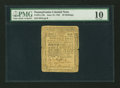 Colonial Notes:Pennsylvania, Pennsylvania June 18, 1764 20s PMG Very Good 10....