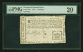 Colonial Notes:Georgia, Georgia 1776 - Crown (two border varieties) 5s PMG Very Fine 20....