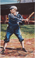 Baseball Collectibles:Others, Ty Cobb Painting....