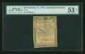 Colonial Notes:Continental Congress Issues, Continental Currency February 17, 1776 $2/3 PMG About Uncirculated53 EPQ....