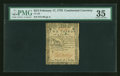 Colonial Notes:Continental Congress Issues, Continental Currency February 17, 1776 $2/3 PMG Choice Very Fine35....