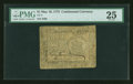 Colonial Notes:Continental Congress Issues, Continental Currency May 10, 1775 $1 PMG Very Fine 25....