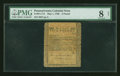 Colonial Notes:Pennsylvania, Pennsylvania May 1, 1760 £5 PMG Very Good 8 Net....