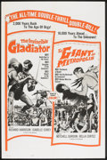 "Movie Posters:Action, The Invincible Gladiator/The Giant of Metropolis Combo (Seven Arts, 1963). One Sheet (27"" X 41""). Action.. ..."