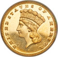 Proof Gold Dollars, 1888 G$1 PR65 Cameo PCGS. CAC....
