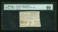 Colonial Notes:Georgia, Georgia September 10, 1777 $1/2 PMG Extremely Fine 40....