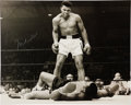 Boxing Collectibles:Autographs, Muhammad Ali Signed Oversized Photograph Over Liston....
