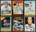 Autographs:Sports Cards, Baseball Hall of Famers Signed Cards Lot of 6....