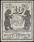 Stamps, St. Louis, Mo., 10c Black on gray lilac (11X5),...
