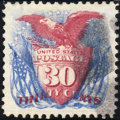 Stamps, 30c Ultramarine & Carmine, Re-Issue (131),... (Total: 1 Slab)