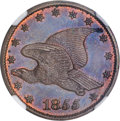 Patterns, 1855 P1C Flying Eagle Cent, Judd-167 Original, Pollock-193, R.5,PR64 Red and Brown NGC....