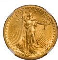 High Relief Double Eagles, 1907 $20 High Relief, Wire Rim MS60 NGC....